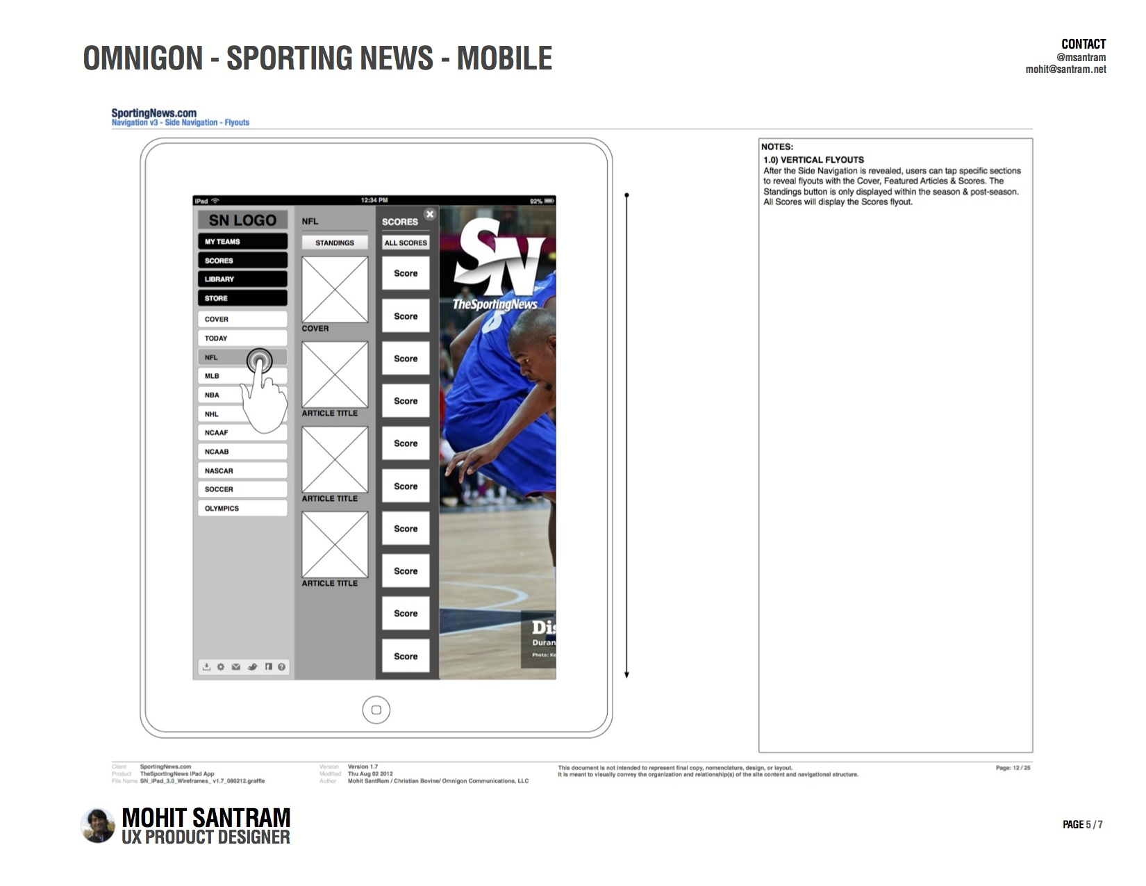 SportingNews Desktop, Tablet, & Mobile Redesign